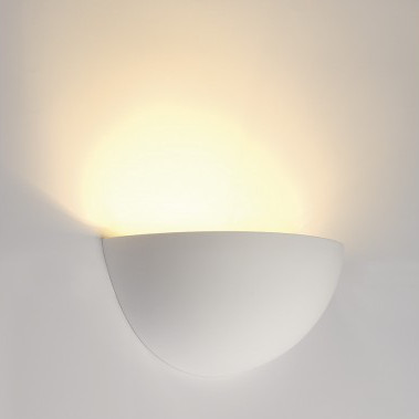 GL 101 E14 Gipswandleuchte in weiß
