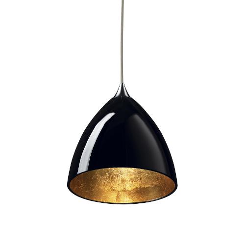 Bruck Silva Down 160 matt chrom - Glas schwarz, innen gold