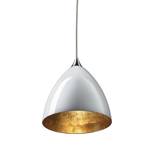 Bruck Silva 160 Down chrom - Glas weiss, innen gold