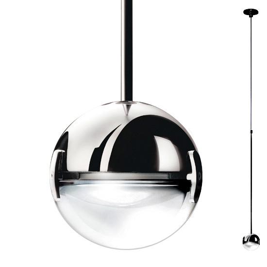 Convivio New LED Sopratavolo, zentral, Linse satiniert, chrom