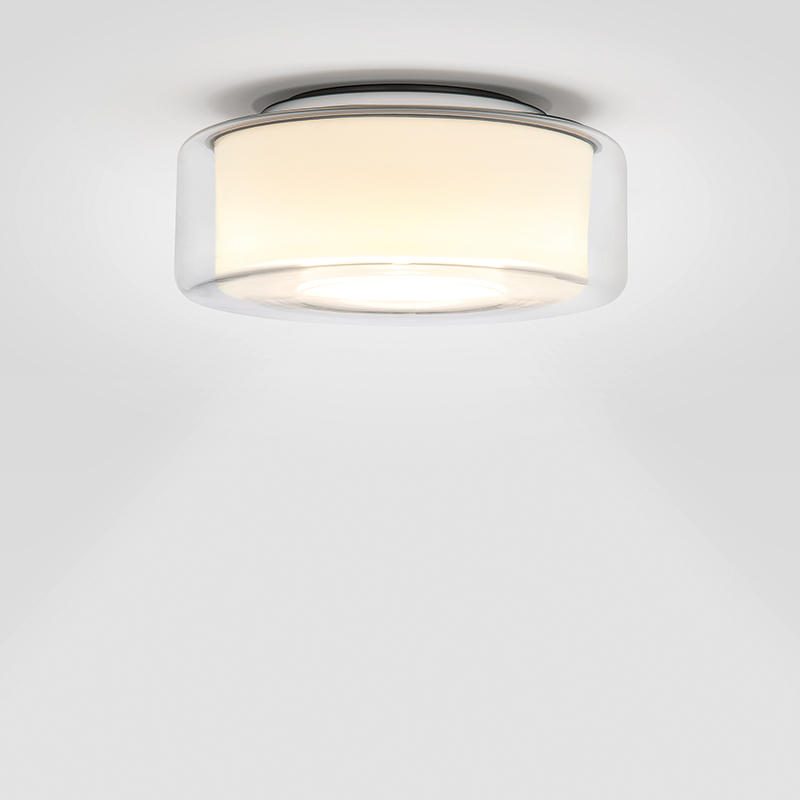 Serien Lighting Curling LED Deckenleuchte Schirm klar, Reflektor zylindrisch opal.