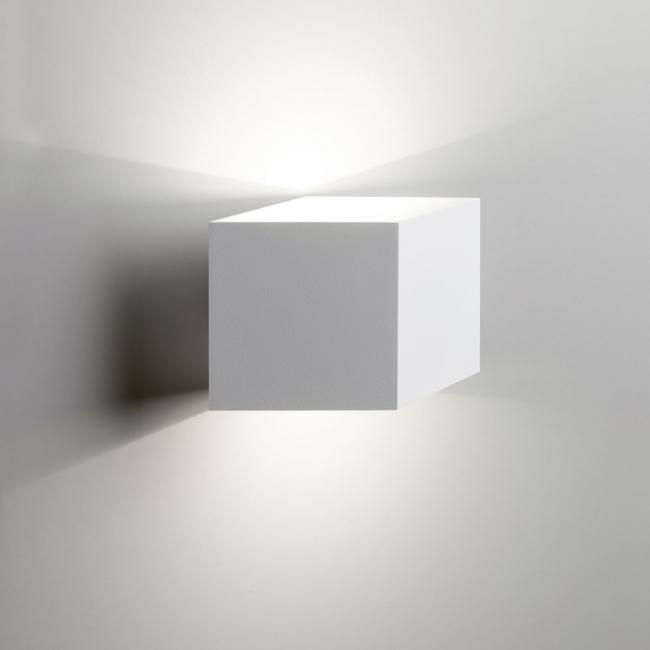 Fifty LED Wandleuchte weiß/weiß