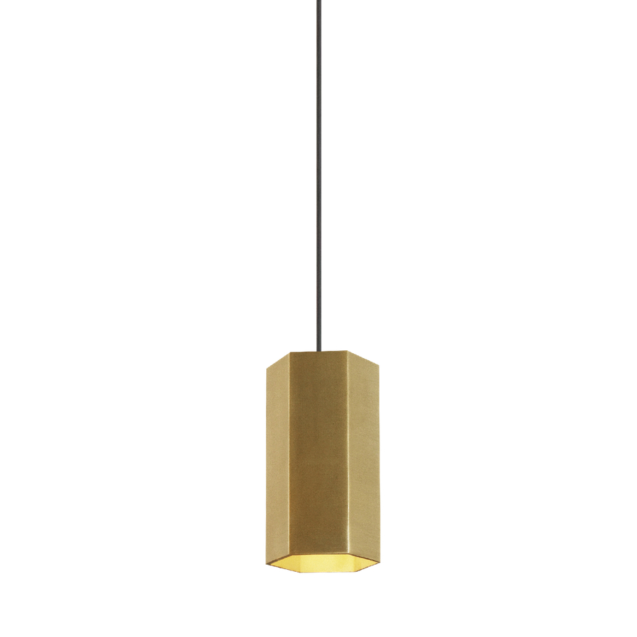 Hexo LED Pendelleuchte - Höhe 20 cm - schwarz