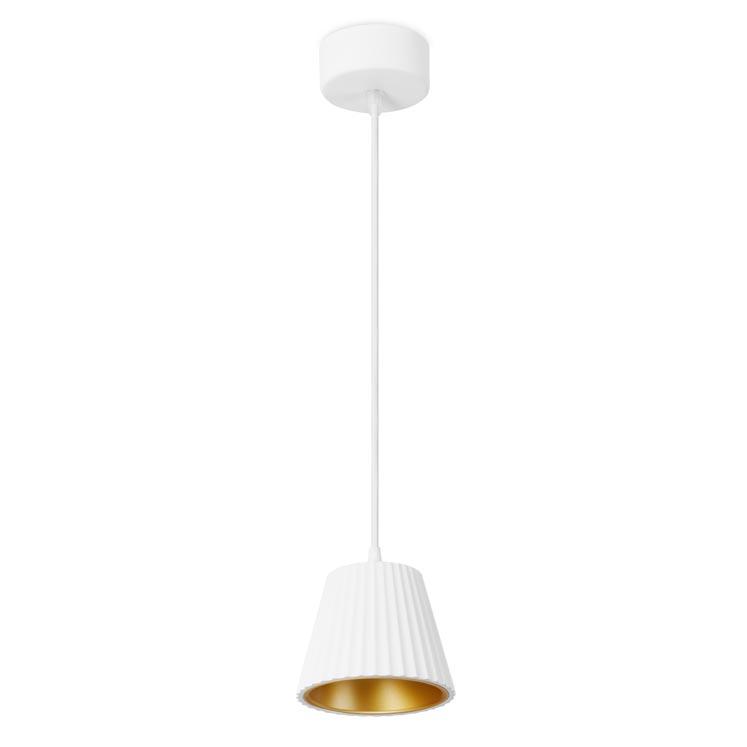 Leds-C4 Cup LED Pendelleuchte - weiß / gold.