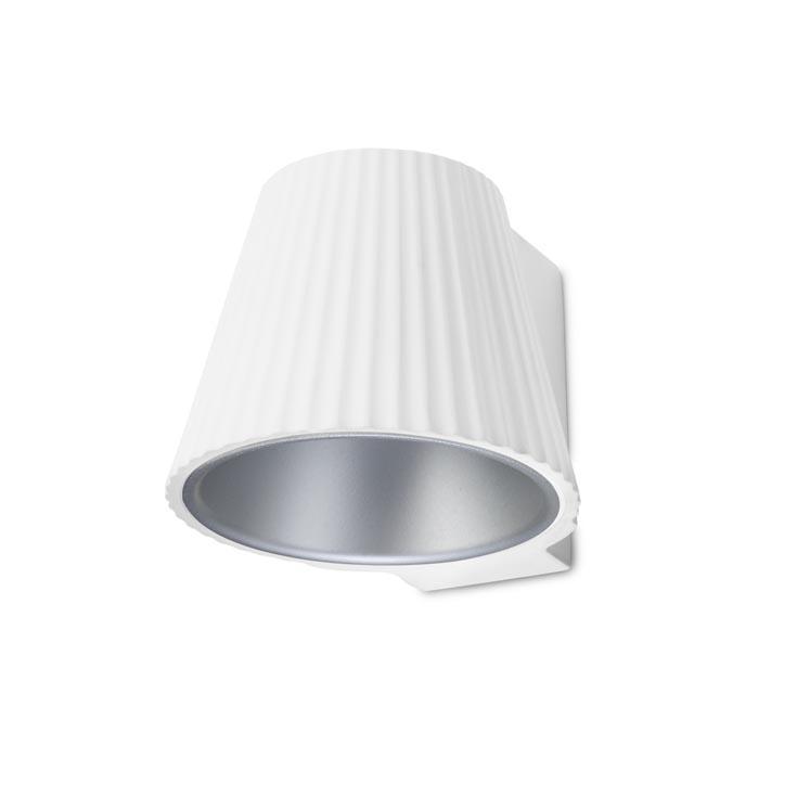 Leds-C4 Cup LED Wandleuchte - weiß / grau.