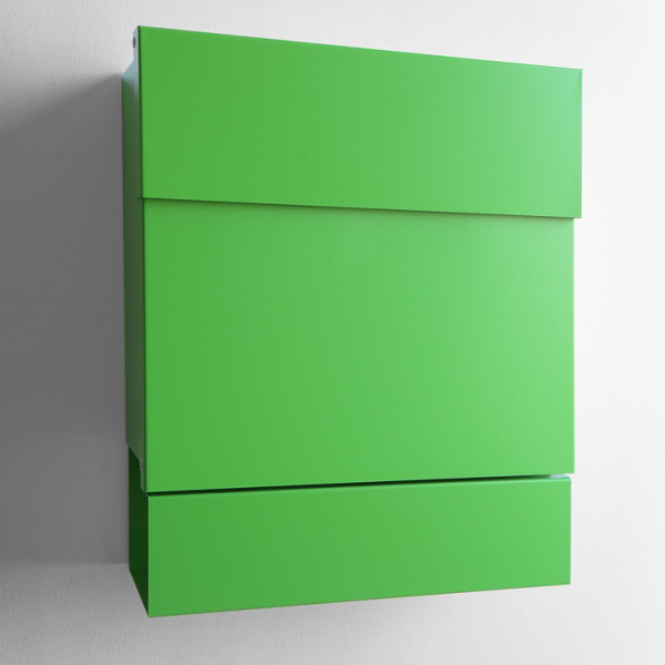 Letterman V - Stahl grün gepulvert