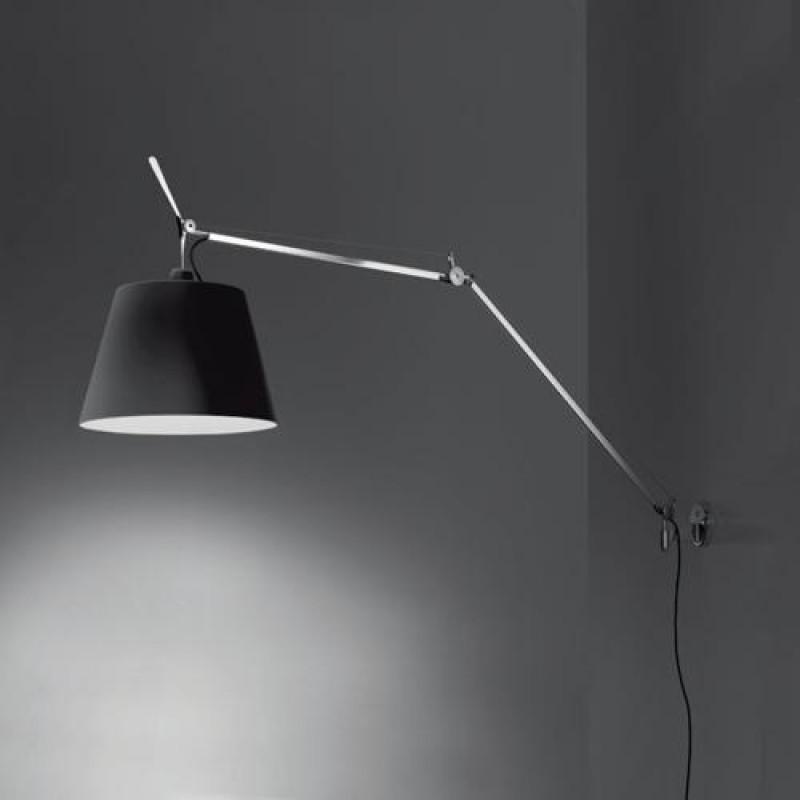 Tolomeo Mega Parete - Schwarzer Schirm, aluminium, Artemide