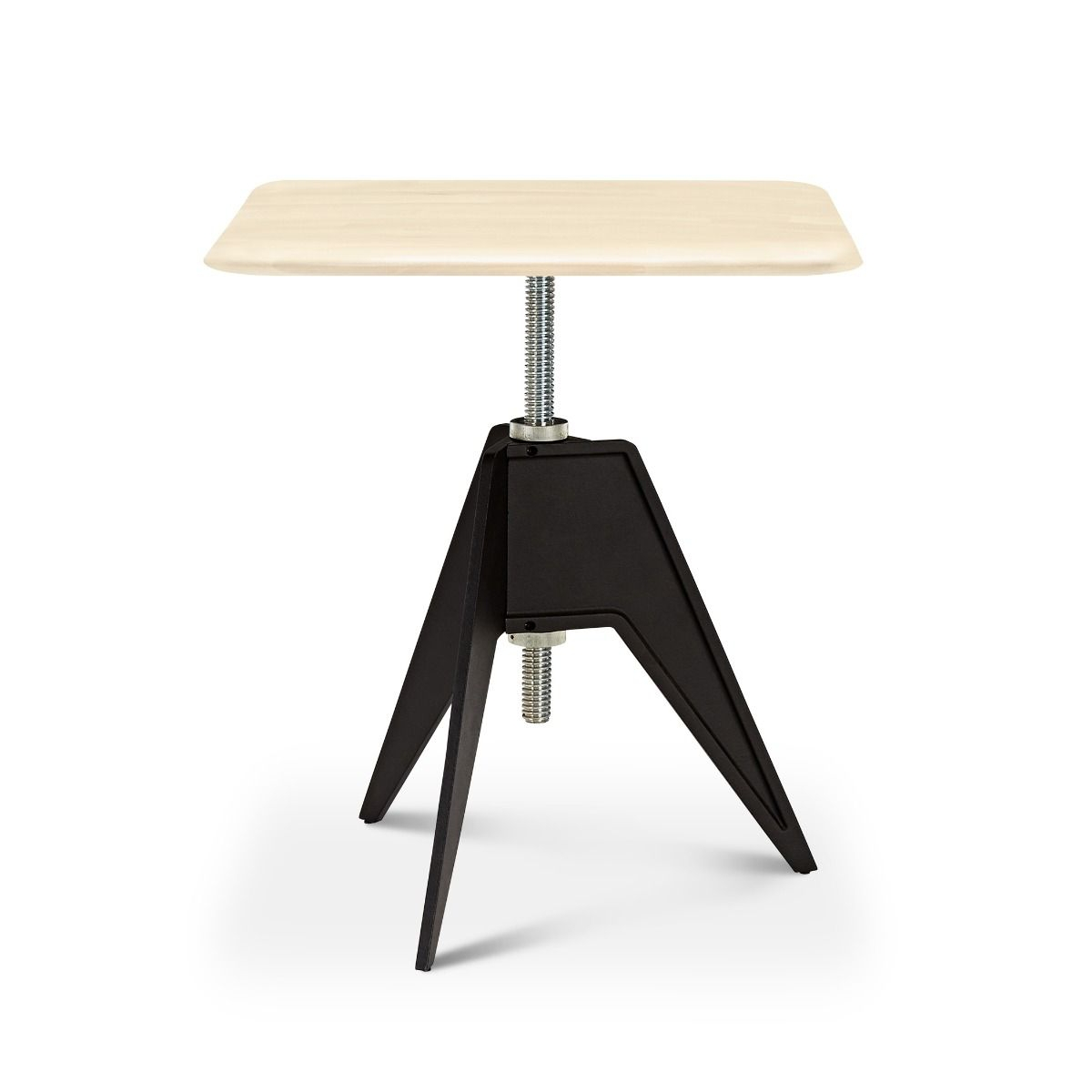 Screw Table Café Square - Birke