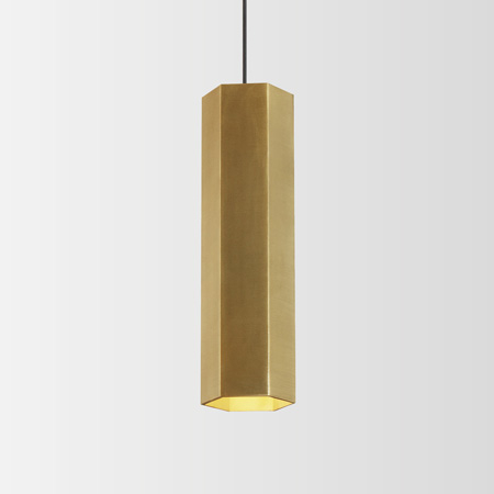 Hexo Pendelleuchte - Höhe 30 cm - gold