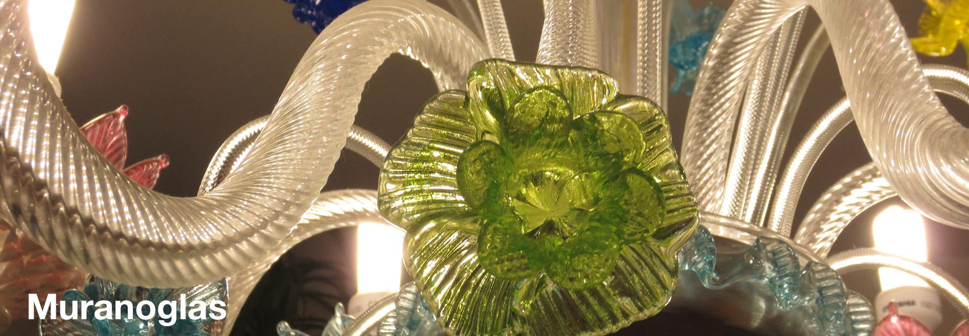 Muranoglas ist auch für Leuchten und Lampen toll